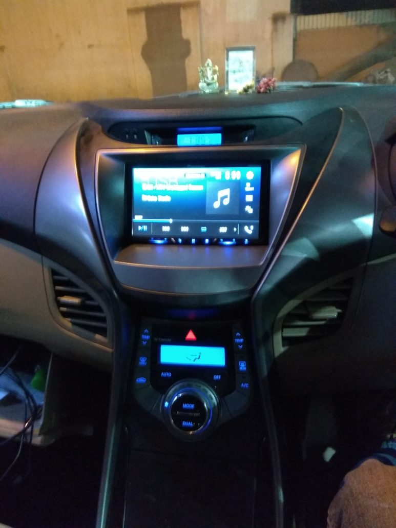 Hyundai In Car Entertainment And Projector Speaker Installation Elantra Fluidic Pioneer Dvd Install
